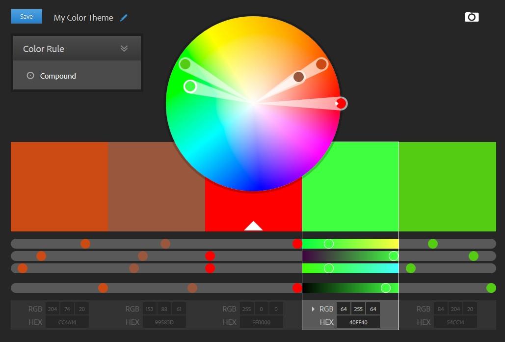Click to use Adobe Color CC